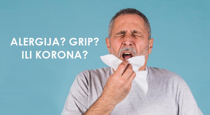 Budite svesni razlika: alergije, sezonki grip i korona virus
